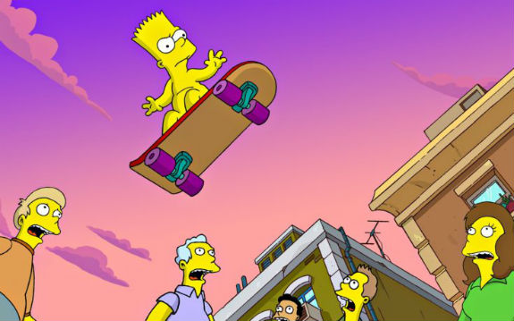 bart-simpson-skateboarding