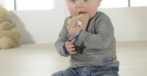 wooden baby teething rings