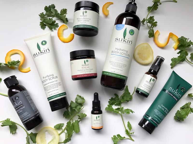 sukin skincare products
