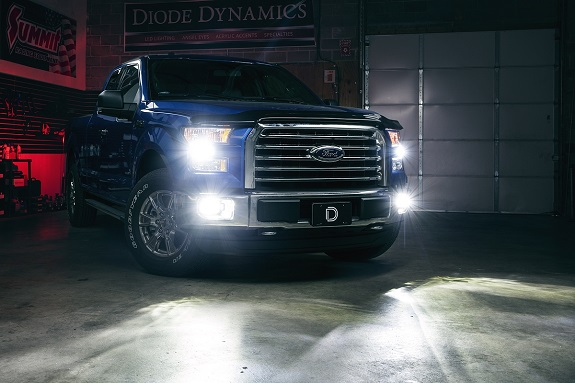 ford truck with fog lights