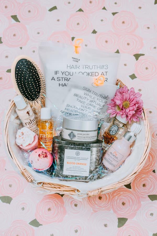 organic skincare basket