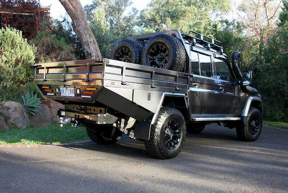 black truck with ute tray