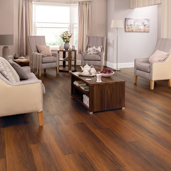picture of nursing home living room with a vinyl flooring