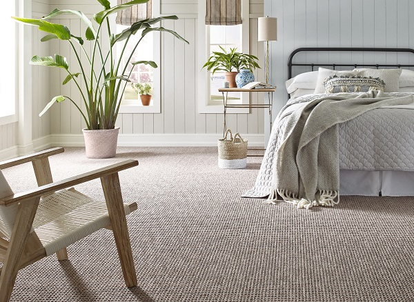 picture of bedroom with carpet flooring