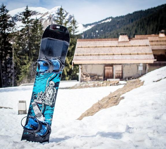 A jib park snowboard
