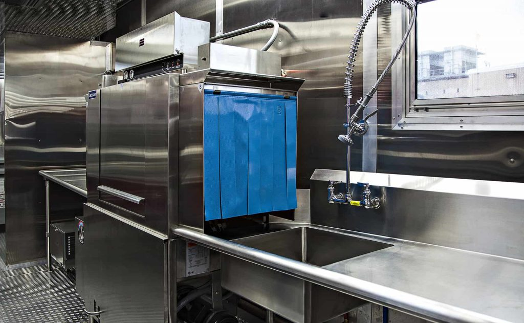 commercial food dishwasher truck