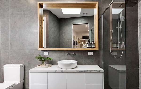 picture of a modern bathroom with all it's essentials