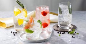 three glasses of tasty gin recipes