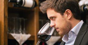 sommelier choosing the best wine