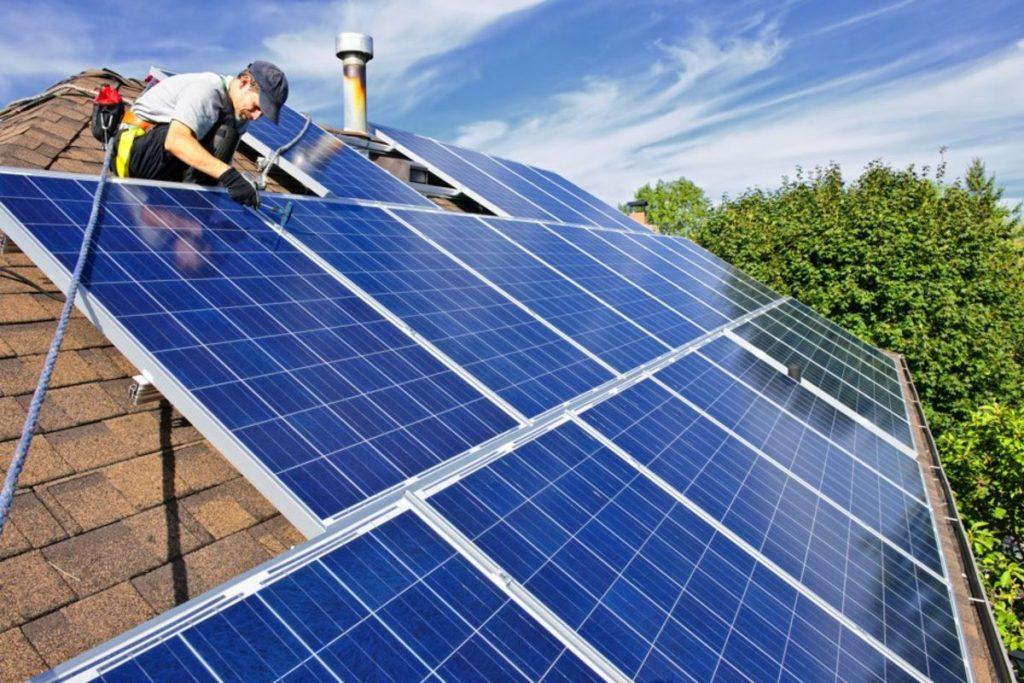 solar power system installing
