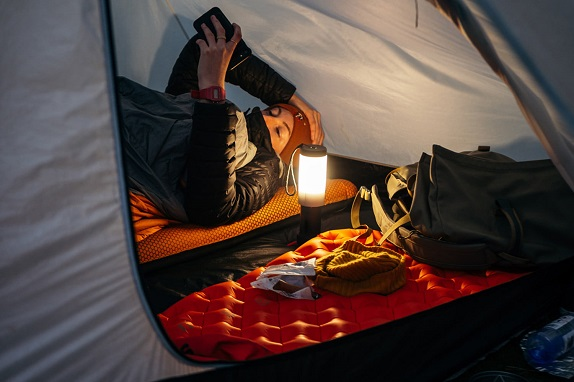 lighting sources while camping