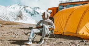 man on camping