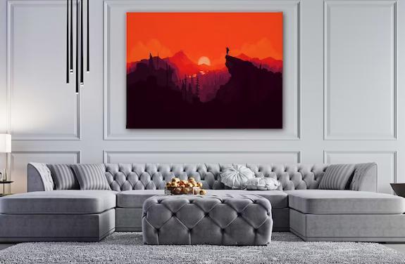 Landscape digital canvas wall art print