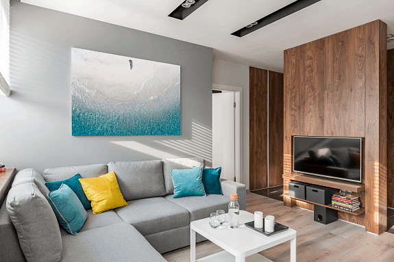 Large canvas print on the wall