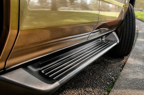 Running Board of vehicle close-up